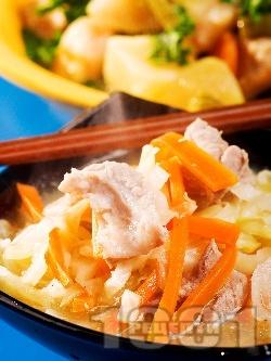 Супа от свинско месо и зеле - снимка на рецептата